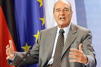 Jacques Chirac le 23 février 2007.