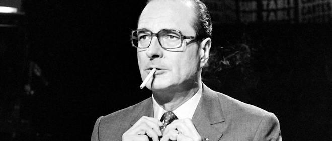 Jacques Chirac, le 9 mars 1981, lors de l'émission télévisée « Cartes sur table ».