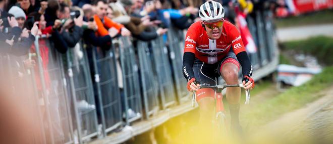 Mads Pedersen en 2018 sur le Tour des Flandres.