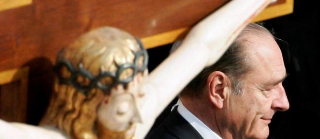 Jacques Chirac au Vatican en 2005.