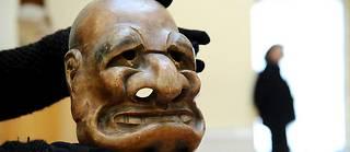Ce masque japonais du XVIIIe siècle, exposé au musée Georges-Labit à Toulouse, ressemble à la marionnette des Guignols représentant Jacques Chirac.