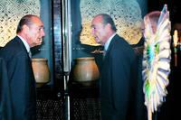 Le président Jacques Chirac lors de l'inauguration du musée du Quai Branly, le 20 juin 2006.