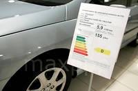 L'étiquette énergie existe pour les voitures depuis 2005, mais le poids du malus attaché aux grammes de CO2 en trop selon le gouvernement - va compter double