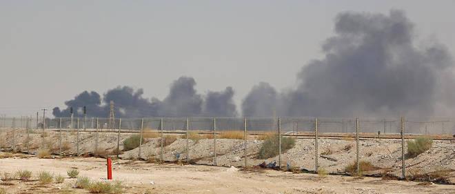 Le site d'Abqaiq, à environ 60 kilomètres de Dharhan, après les attaques de drones le 14 septembre.