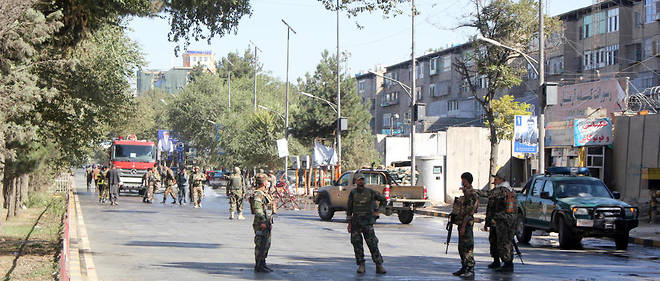 Des forces de sécurité afghanes après un attentat-suicide à Kaboul, le 17 septembre dernier.