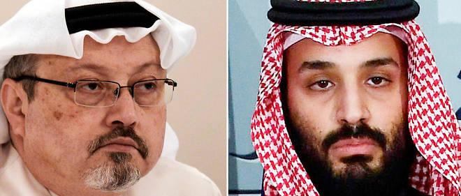 Le prince héritier saoudien Mohammed ben Salmane (à droite) est accusé par la CIA d'avoir commandité le meurtre du journaliste dissident Jamal Khashoggi, survenu le 2 octobre 2018.