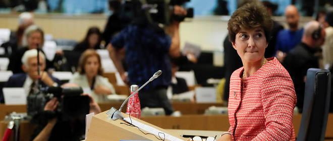 Sylvie Goulard, lors de son audition mercredi 2 octobre devant les députés européens.