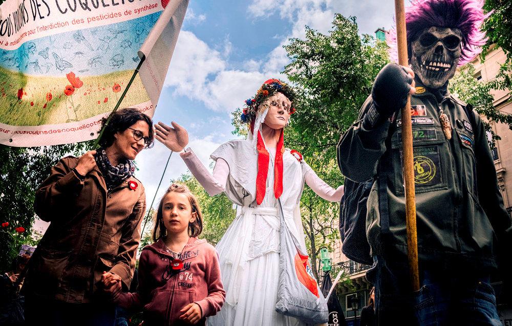 Alerte. Marche antiviolence lancée par l'association Nous voulons des coquelicots contre Monsanto, le 18mai, à Paris.