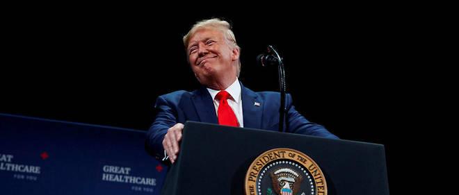 Donald Trump en meeting le 3octobre. Selon le New York Times, le président des États-Unis a choisi de «live-tweeter sa propre destitution».