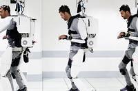 <p>Tétraplégique depuis quatre ans, Thibault parvient aujourd'hui à diriger les mouvements d'un exosquelette grâce à des électrodes implantés dans son crâne.</p>