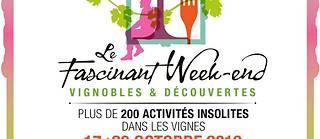 Du 17 au 20 octobre se déroulera la 6éme édition du Fascinant Week-End. Un rendez-vous automnal autour du vignoble d'Auvergne-Rhône-Alpes.