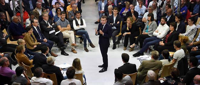 Emmanuel Macron lors du débat sur les retraites.
