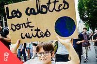 <p>Lors de la marche mondiale pour le climat, le 21 septembre à Rennes.</p>