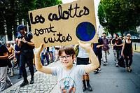 Lors de la marche mondiale pour le climat, le 21 septembre à Rennes.