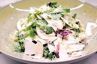 Ce samedi, le chef Jean-Francois Piege vous confie sa recette de salade de mesclun aux cepes.