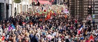Une foule de manifestants lors de la manifestation anti-procréation médicale assistée (PMA), Paris 6 octobre 2019.