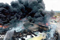 L'usine Lubrizol de Rouen, ravagée par un incendie le 27 septembre 2019.
