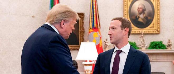 Trump a reçu Mark Zuckerberg le 20 septembre 2019 à la Maison-Blanche.