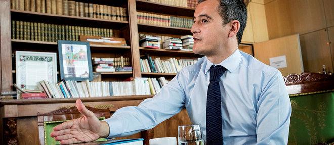 Gérald Darmanin, ministre de l'Action et des Comptes publics, dans son bureau, à Bercy, le 1 er octobre.   ©Tristan Reynaud