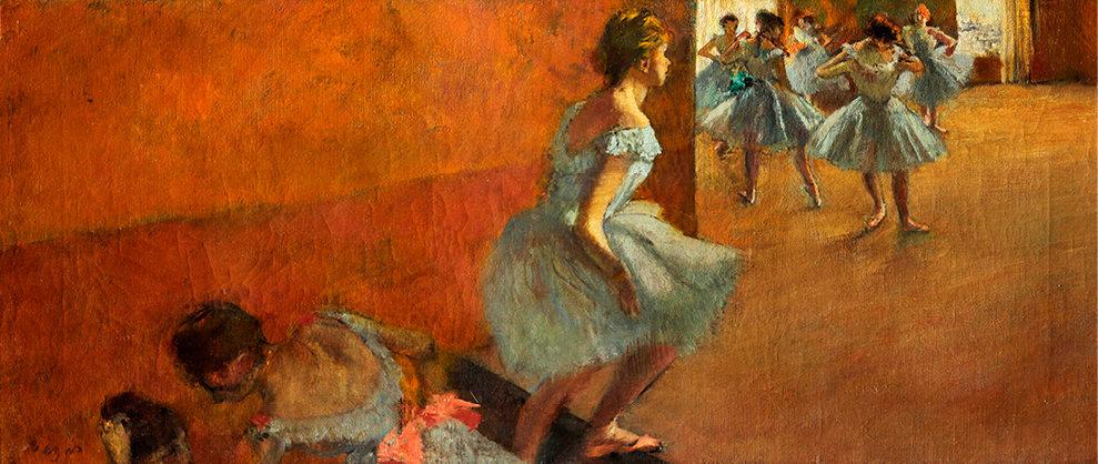 Mouvement. «Danseuses montant un escalier» (huile sur toile, 1886-1890).