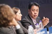 Makoto Uchida, le nouveau patron que s'est choisi Nissan, ici au forum de Davos.