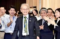 <p>Le Japonais Akira Yoshino est l'un des trois inventeurs récompensés par le prix Nobel de chimie, le 9 octobre 2019, pour la batteries en lithium.</p>