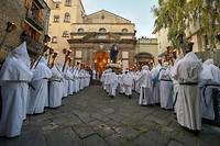 Procession de Pâques à Sorrente, près de Naples, le 19 avril 2019.