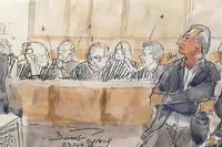 <p>Dessin d'illustration du grand procès du Mediator qui s'est ouvert le 23 septembre 2019 à Paris.</p>