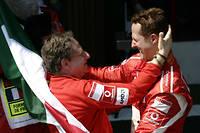 Jean Todt et Michael Schumacher, ici à Magny Cours en 2006, nourrissent un grand respect mutuel et une profonde amitié.