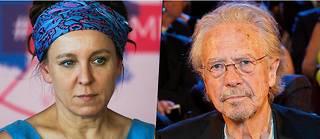 OlgaTokarczuk et Peter Handke, les deux nouveaux Nobel de littérature.