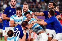 Le match de la France contre l'Argentine, le 21 septembre. La victoire française lui a presque assuré une place en quarts de finale. Mais le tapis vert a décidé de son adversaire.