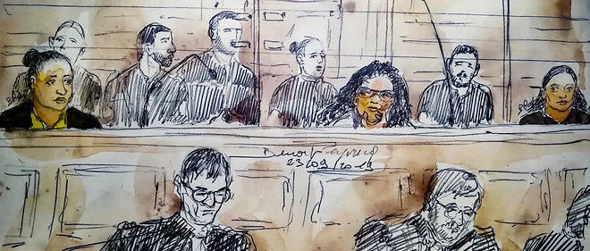 """Inès Madani et Ornella Gilligmann, à l'ouverture du procès dit des """"bonbonnes de gaz"""" le 23 septembre 2019, devant la cour d'assises spéciale de Paris."""