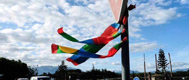 Un drapeau pro-indépendance de la Nouvelle-Calédonie.