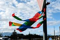 <p>Un drapeau pro-indépendance de la Nouvelle-Calédonie.</p>