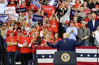Donald Trump s'est défendu sur tous les fronts devant une foule conquise.