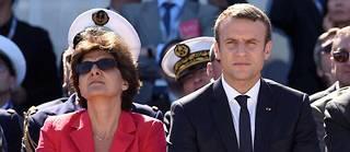 Sylvie Goulard et Emmanuel Macron au salon du Bourget en juin 2017.