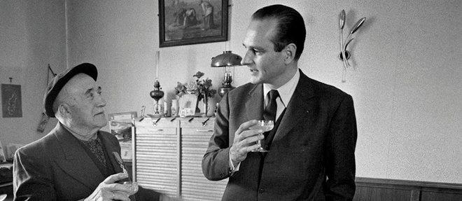 En mai 1973, a Ussel, dans le nord de la Correze dont Jacques Chirac a ete depute de 1967 a 1995.  (C)DE DECKER MARIE-LAURE/GAMMA