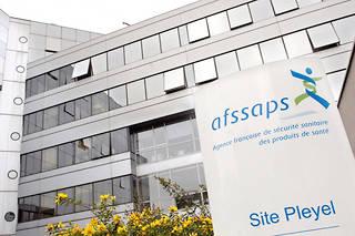 Photo prise le 12 juin 2007 au siège de l'Agence française de sécurité sanitaire des produits de santé (Afssaps) à Saint-Denis.