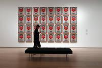 L'œuvre d'Andy Warhol « Campbell's Soup Cans » , lors de la visite du nouveau MoMA le 10 octobre.