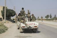 Une patrouille de l'armée syrienne.