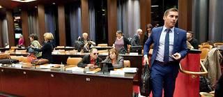 Julien Odoul, président de groupe du Rassemblement  national au conseil régional de Bourgogne-Franche-Comté.