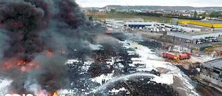 L'incendie de l'usine Lubrizol le 27 septembre à Rouen.