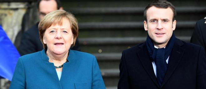 Angela Merkel et Emmanuel Macron le 22 janvier dernier à Aix-la-Chapelle, où ils ont participé à la signature d'un nouveau traité d'amitié franco-allemand