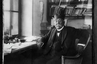 Portrait de Georges Clemenceau à Saint-Vincent-sur-Jard.