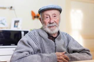 Roger Auvin chez lui en décembre 2016.