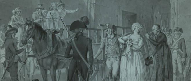 Marie-Antoinette quittant la Conciergerie pour l'échafaud.