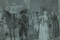 Marie-Antoinette quittant la Conciergerie pour l'echafaud.
