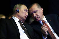 Recep Tayyip Erdogan et Vladimir Poutine.