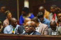 L'accusation de corruption poursuit toujours Jacob Zuma dans le contrat impliquant le groupe français Thalès. Ici, il est devant la Haute Cour de Pietermaritzburg, le 15 octobre 2019.
