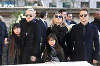 La famille Hallyday à l'enterrement de Johnny en 2017.